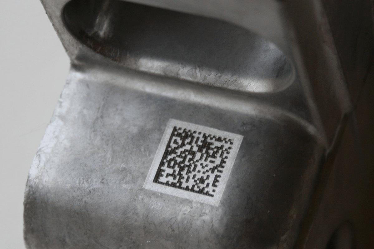 Código Datamatrix en un producto industrial