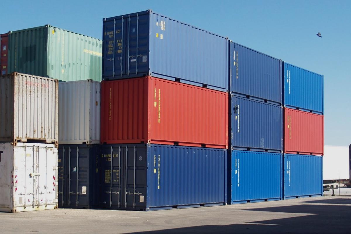 Códigos de barras de contenedores de carga